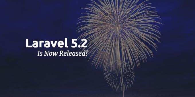 Laravel 5.2 正式發布