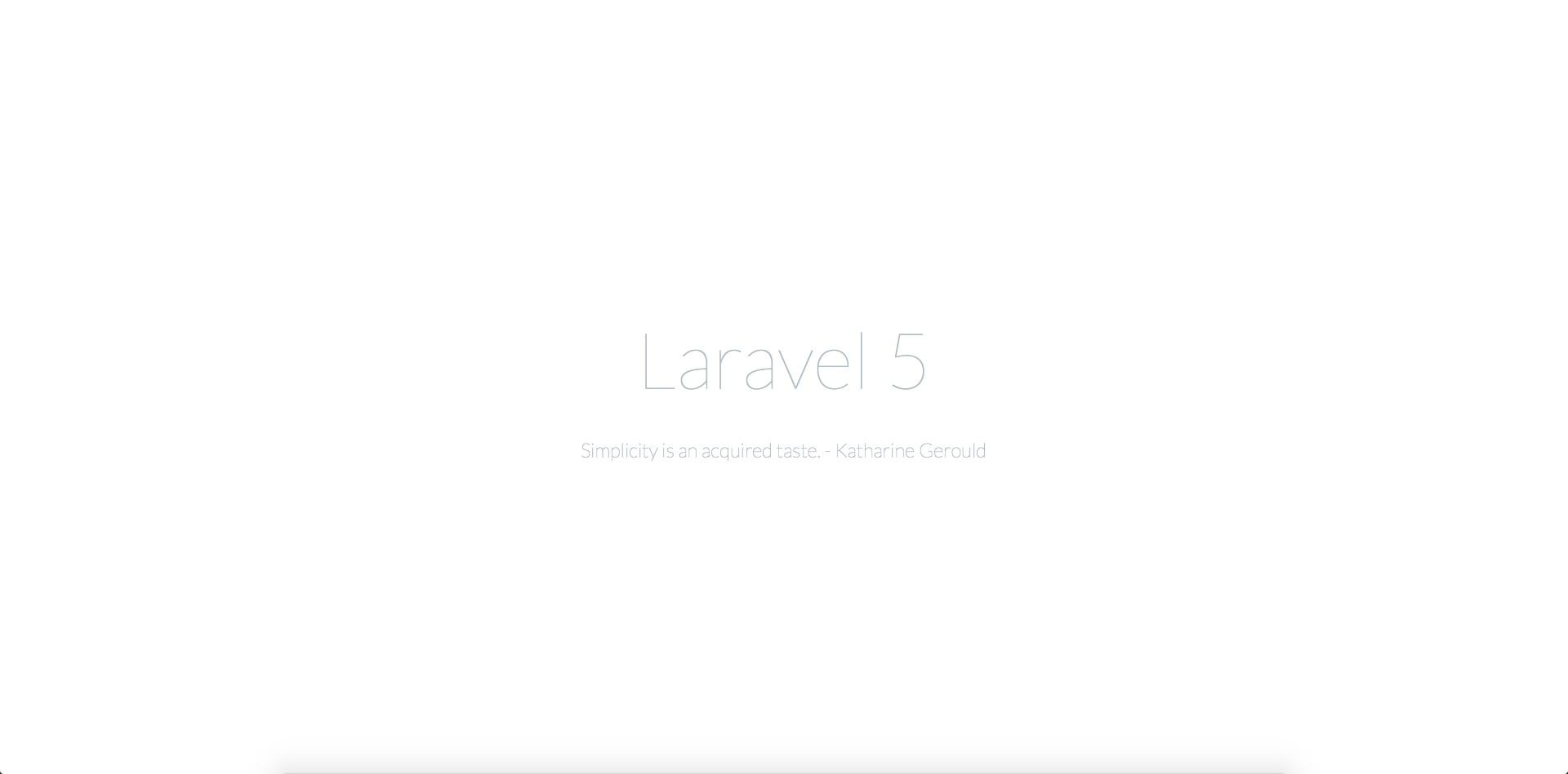 Laravel 5 系列入门教程(四)【完结】