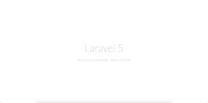 Laravel 5 系列入门教程(一)